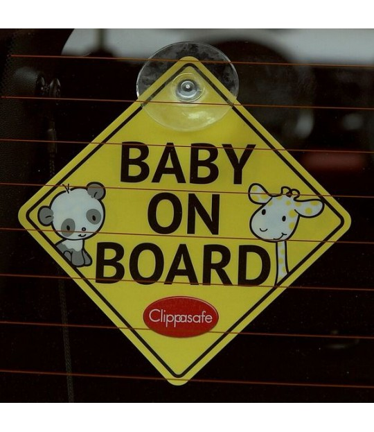 Clippasafe Baby on Board skilt